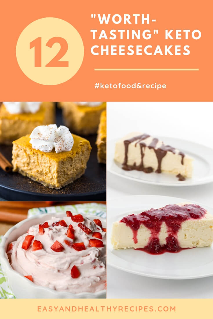 12 keto cheesecakes