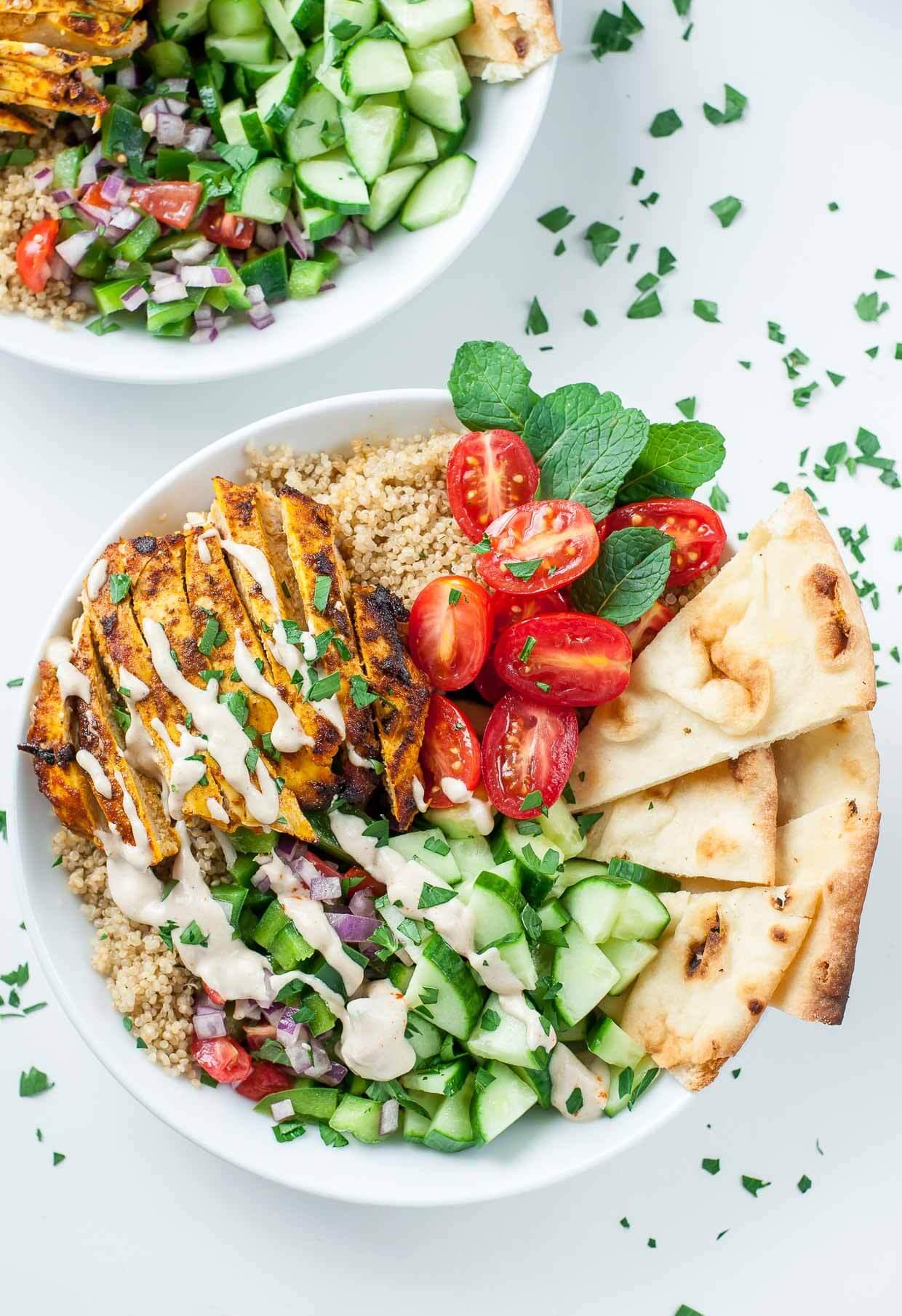 14.Healthy Chicken Shawarma Quinoa Bowls