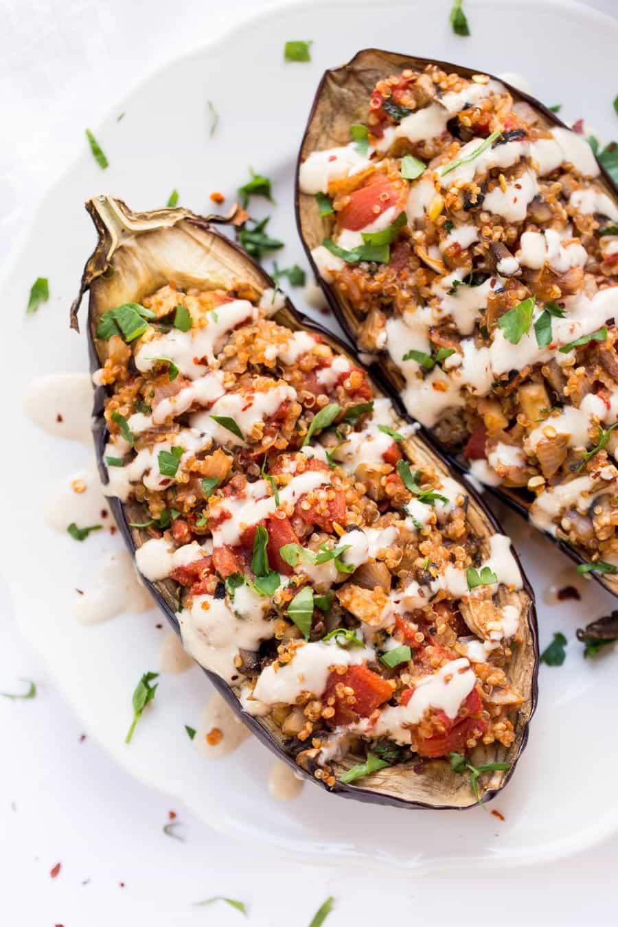 #23 Quinoa Stuffed Eggplant
