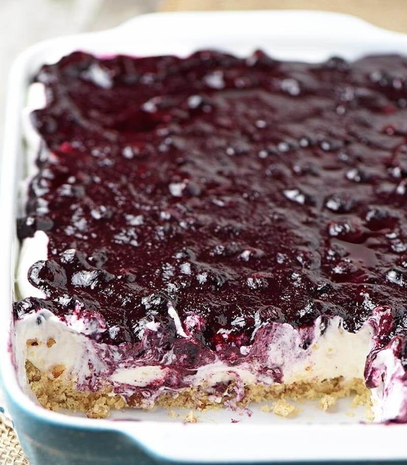 4. No-Bake Blueberry Cheesecake