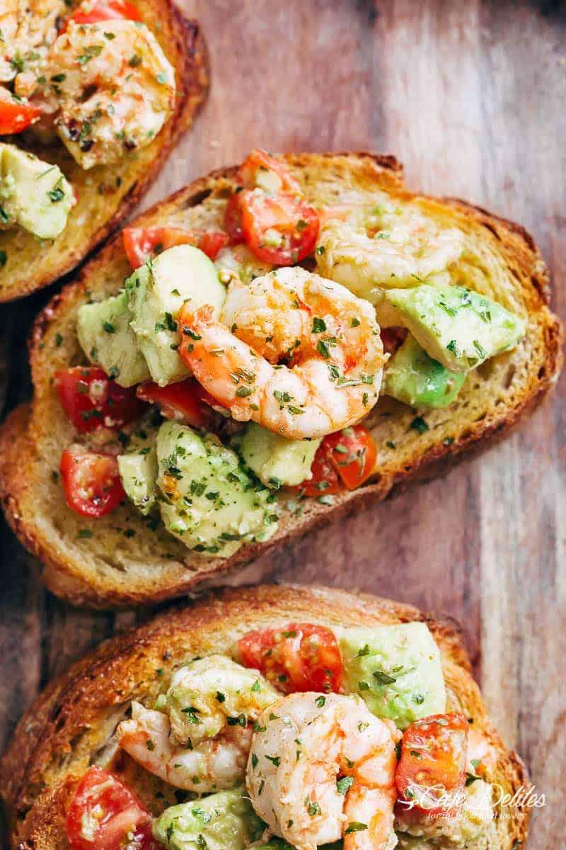 #6 Shrimp Avocado Garlic Bread