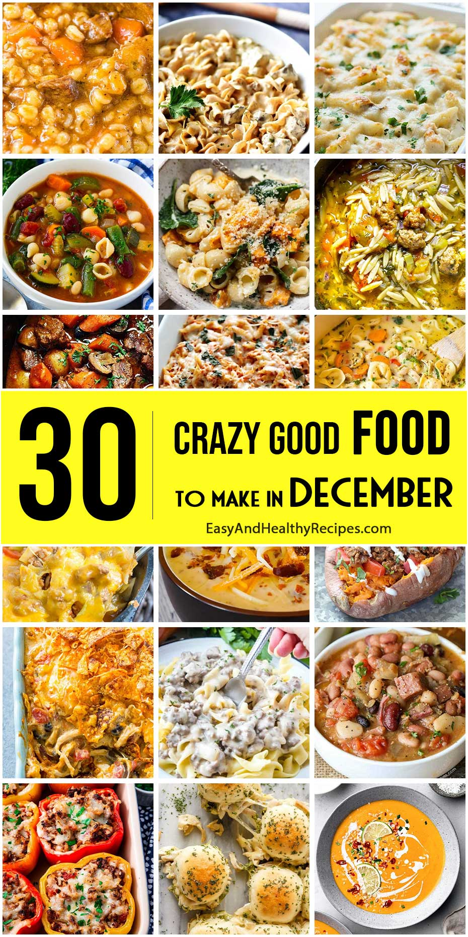 Here Are Crazy Good Foods To Make in December